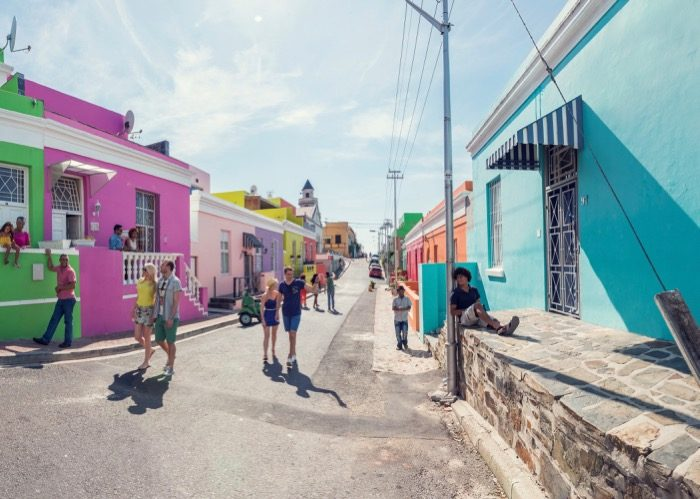 Visite du quartier Bo-Kaap et ses maisons colorées lors d'un voyage CE en Afrique du Sud