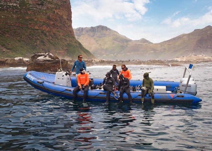 Activité en mer lors d'un voyage CE en Afrique du Sud