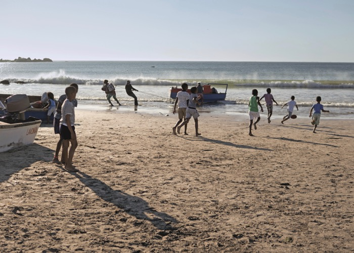 Balade sur la plage lors d'un voyage CE en Afrique du Sud