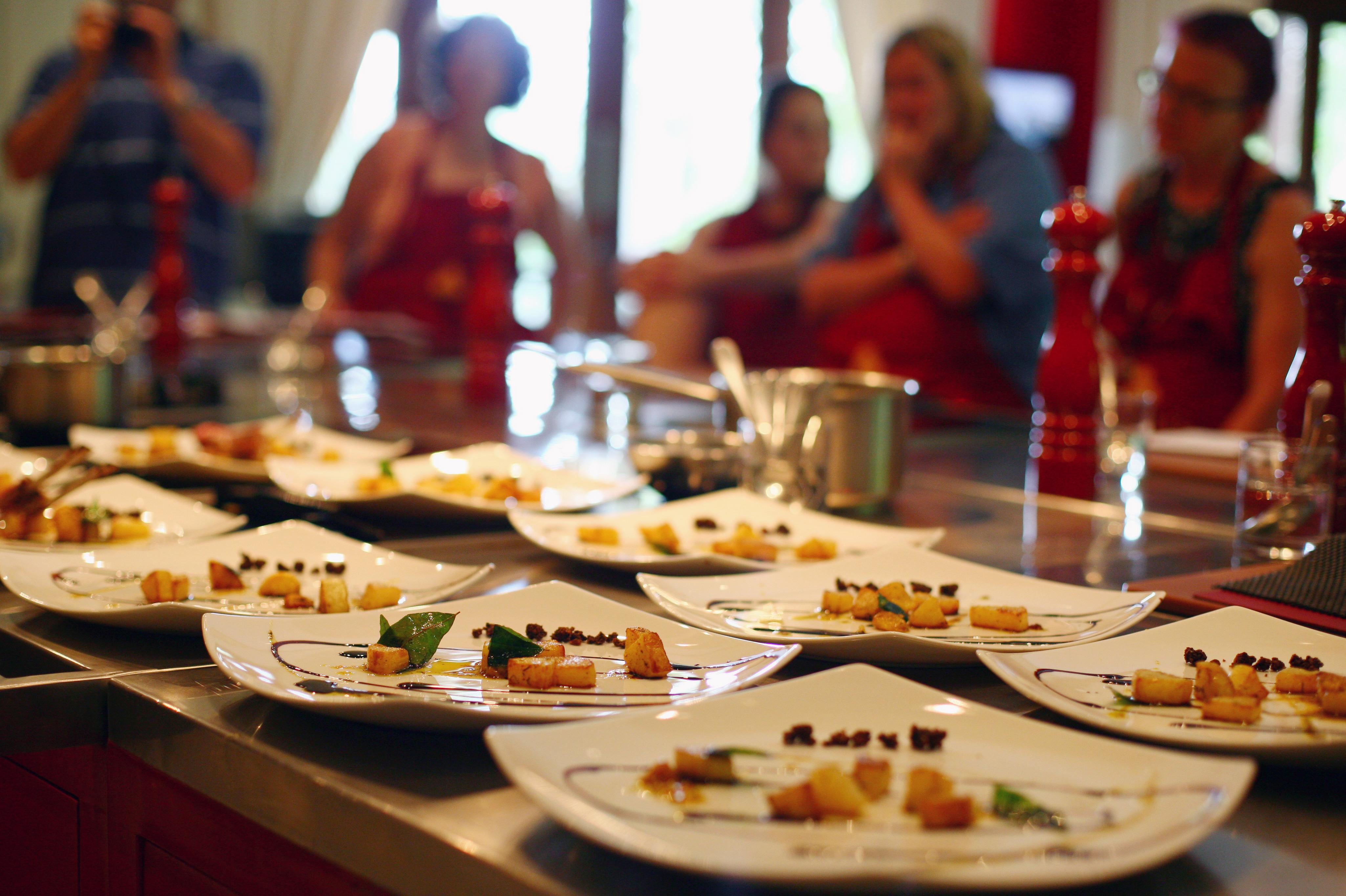 Cours de cuisine lors d'un Séminaire dans le Beaujolais