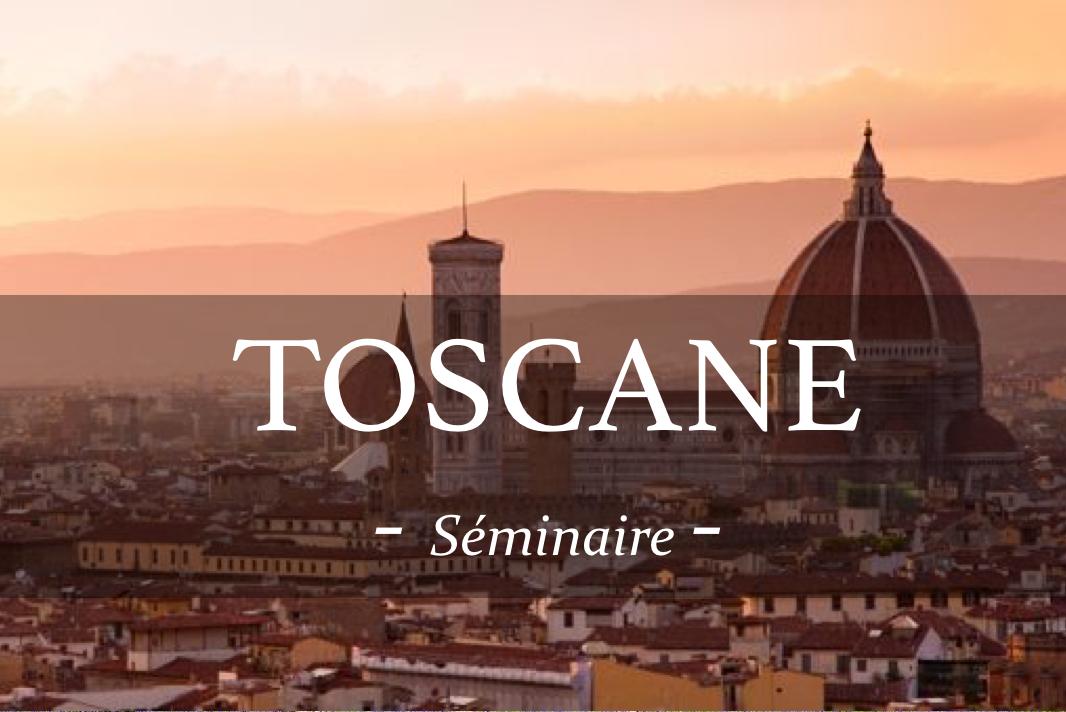 Découvrez l'Italie et leurs vins lors d'un séminaire en Toscane