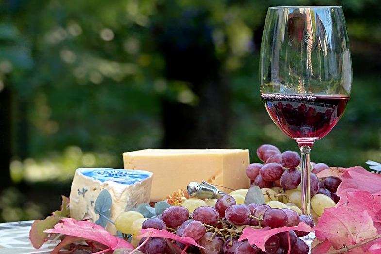 Dégustation de vins et fromage lors d'un Séminaire dans le Beaujolais