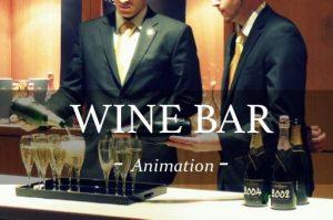 wine bar ; animation ; verre de vin ; champagne ; moet chandon ; dégustation champagne ; luxe ; animations soirées et cocktails