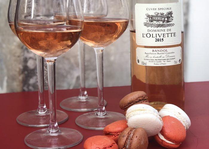 dégustation de rosé et macaron, domaine de l'olivette