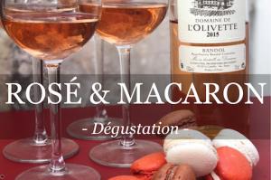 dégustation de rosé et de macaron présentée pour les entreprises
